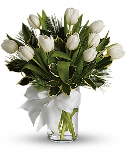 "Bouquet of flowers ""11 white Tulips"""