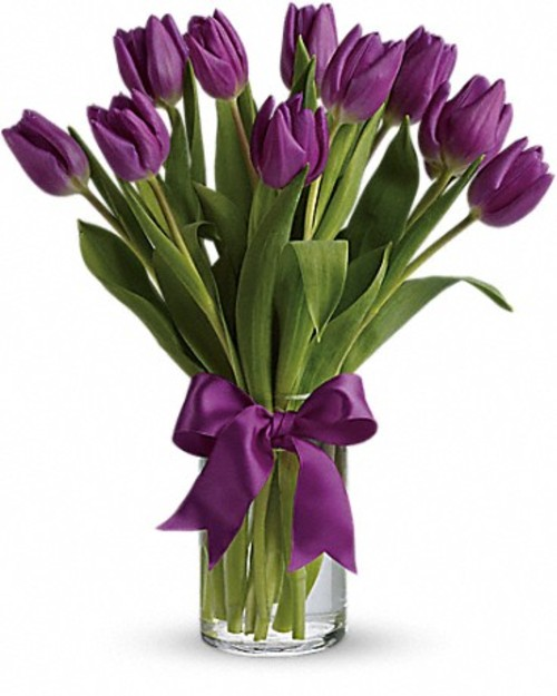 "Bouquet of flowers ""11 purple Tulips"""