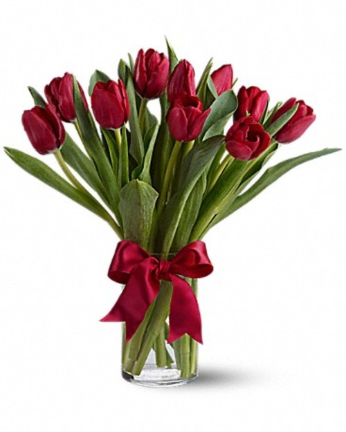 "Bouquet of flowers ""11 red Tulips"""