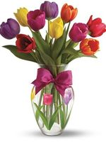 "Bouquet of flowers ""11multicolored Tulips"""