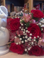 "Bouquet of roses ""for your beloved"" and Angel Gift Set"