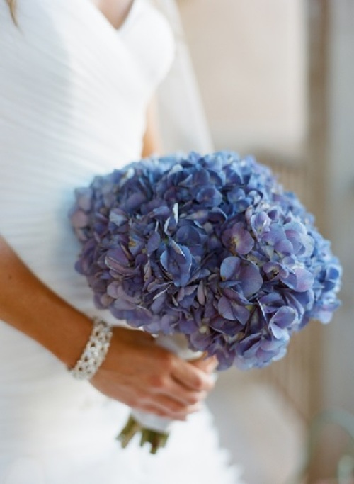 Wedding Flowers Blue Hydrangea Bouquet