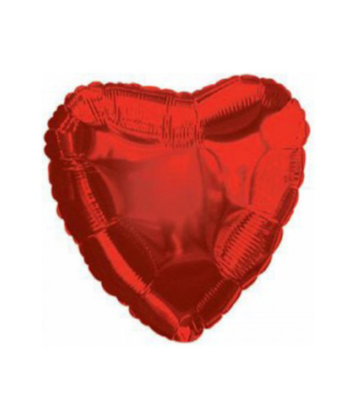 "Foil&Mylar Balloon ""Red heart"" filled with Helium"