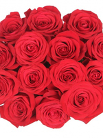 Round bouquet of 15 red roses Freedom