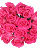 Bouquet of 15 Dark Pink Roses Topaz