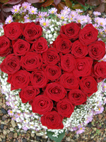"Heart-shaped arrangement ""Loving heart"", red roses"