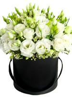 Hat Box White Lisianthus