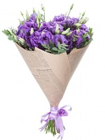 Bouquet of 15 purple Lisianthus