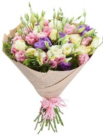 Bouquet of 15 multicolored Lisianthus
