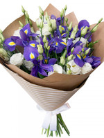 Flowers Bouquet Irises& Lisianthus