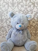 Soft toy teddy bear gray 70 cm.