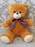 "Soft toy teddy bear ""Grinka"", caramel, 38 cm."