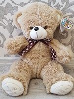 "Soft toy teddy bear ""Grinka"", coffee, 38 cm."
